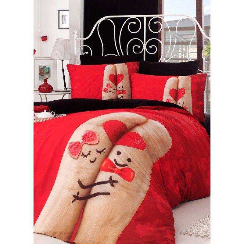 Постельное белье Charlot Home - Finger kirmizy 1 купить в интернет-магазине  Постелька 6ed94fd3a8b4d