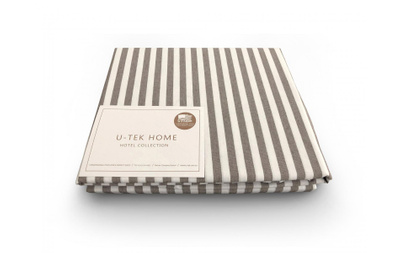 Простынь на резинке U-TEK Hotel Collection Cotton Stripe Cacao 30