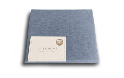 Простынь на резинке U-TEK Hotel Collection Cotton Melange Blue