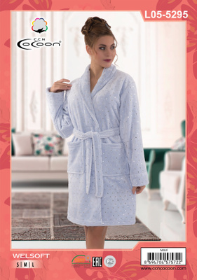 Халат Welsoft Cocoon 05-5295 mavi
