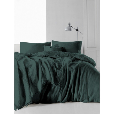 Постельное белье SoundSleep Stonewash Muslin Dark Green