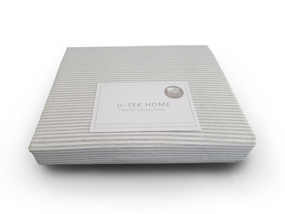 Простынь на резинке U-TEK Hotel Collection Cotton Stripe Grey 10